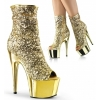 ADORE-1008SQ Gold Sequin/Chrome